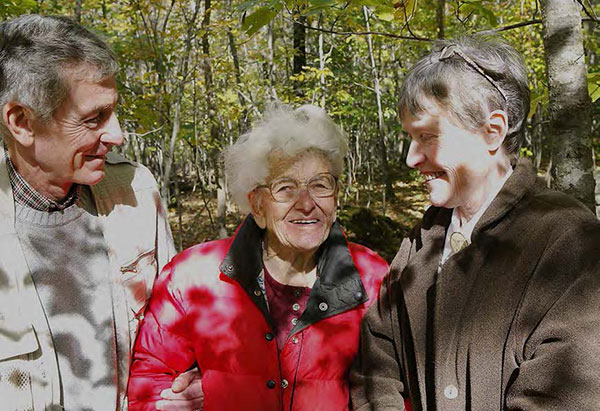 Betty Lowry (center) with Barry Haigis and Joan O'Neill